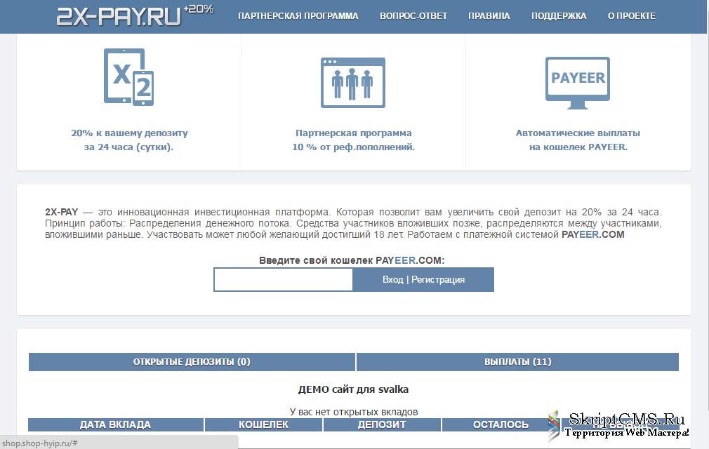 Hyip website demo