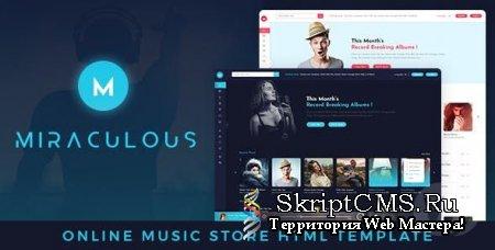 Miraculous v1.0 - музыкальный HTML шаблон