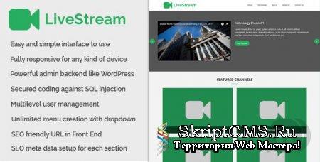 LiveStream - веб-платформа для стриминга